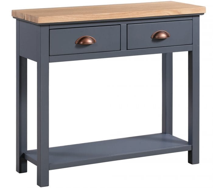 Dark grey console table