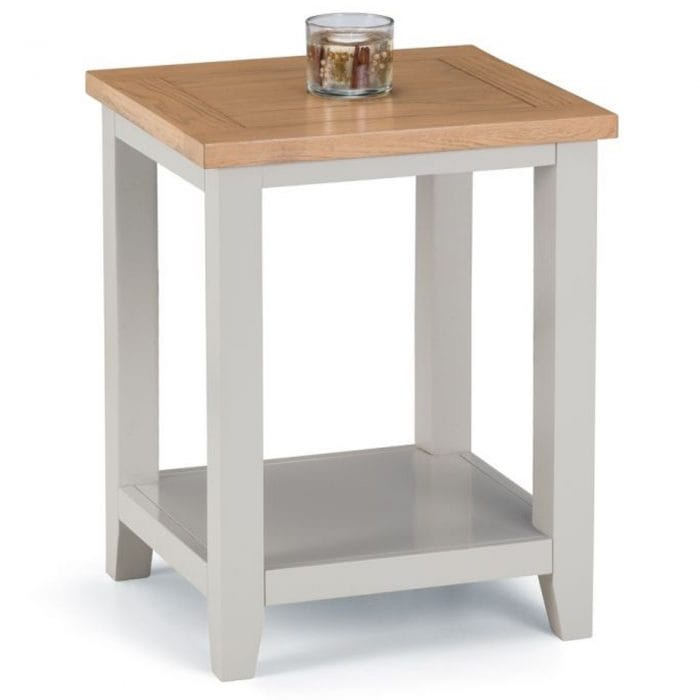 Grey sidetable with table top space