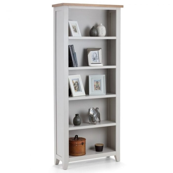 Grey tall bookcase