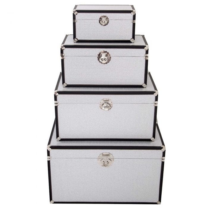 Black And Silver Storage Boxes