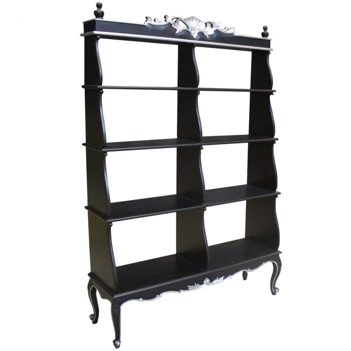 Black Antique Style French Cabinet