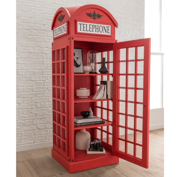 Red Telephone Box Display Cabinet