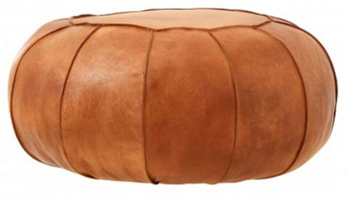 light brown hassock pouffe
