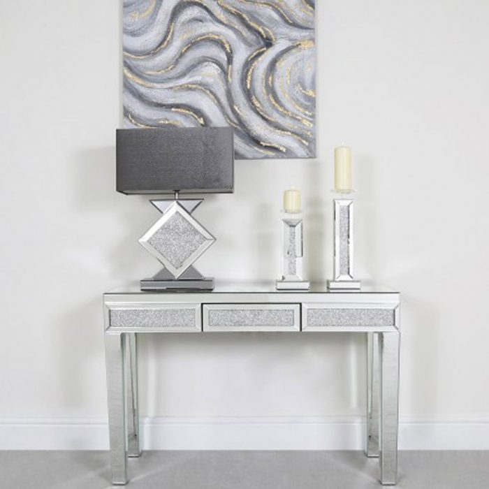 What Goes With Mirrored Furniture, Used Mirrored Tables