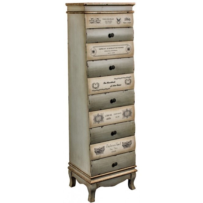 10 Drawer Shabby Chic Tallboy Chest