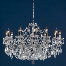 12 Arm Chrome Antique French Style Chandelier