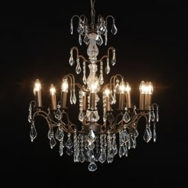 12 Branch Antique French Style Chandelier