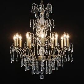 12 Branch Gold Antique French Style Chandelier