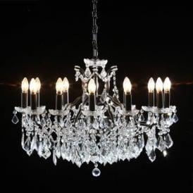 12 Branch Large Black Antique French Style Chandelier