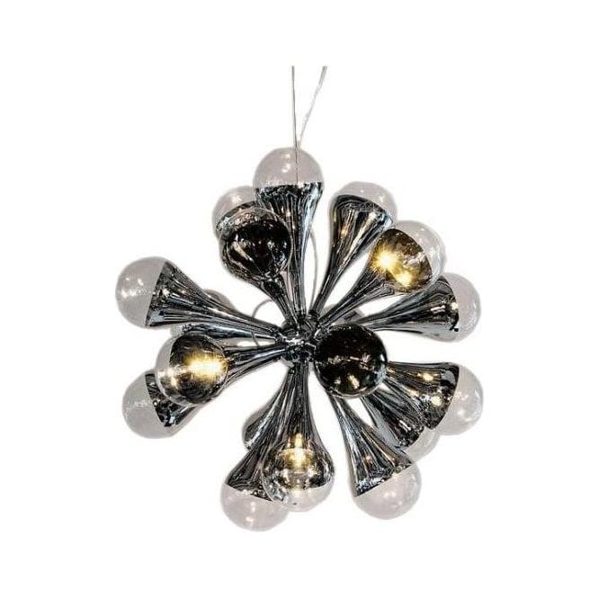 12 Lamp Chrome Chandelier
