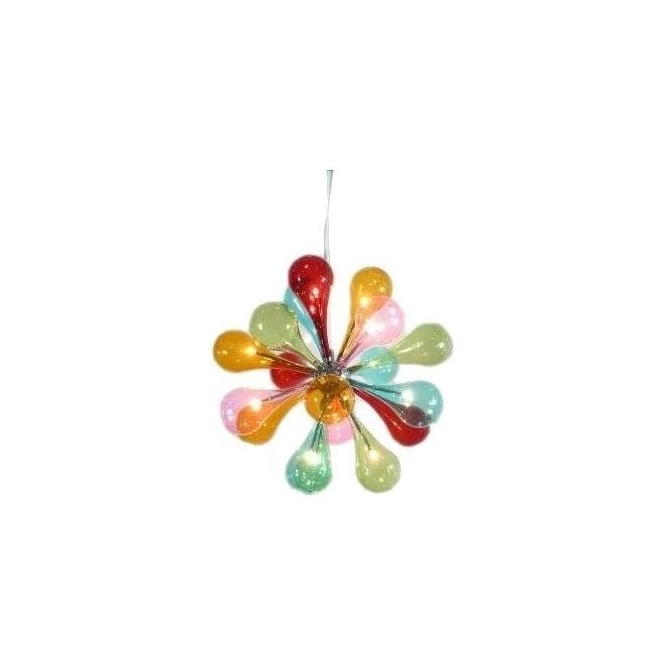 12 Lamp Multicoloured Chandelier