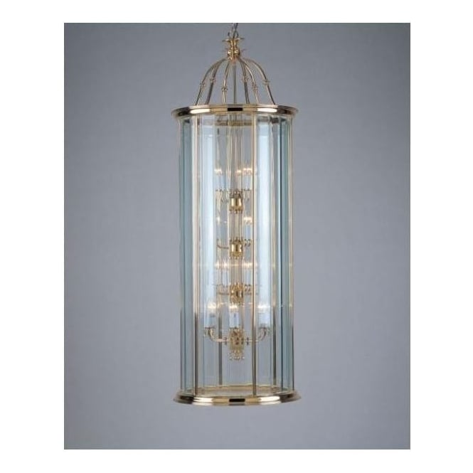 18 Light Bevelled Glass Lantern
