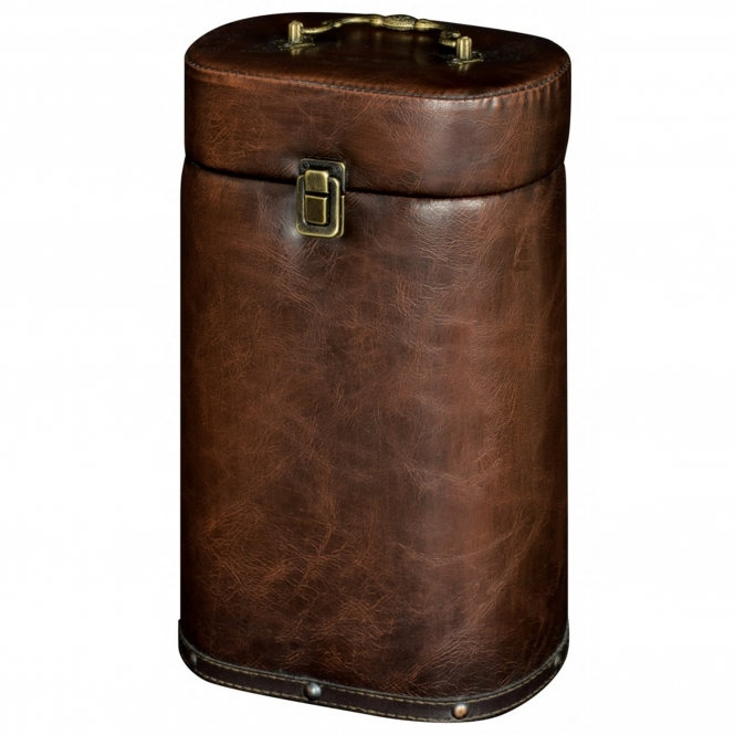 2 Bottle Faux Leather Wine Box