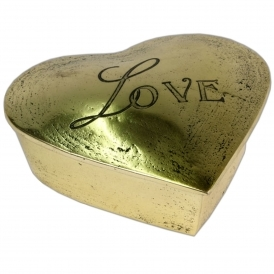 2 Love Heart Boxes (Brass)