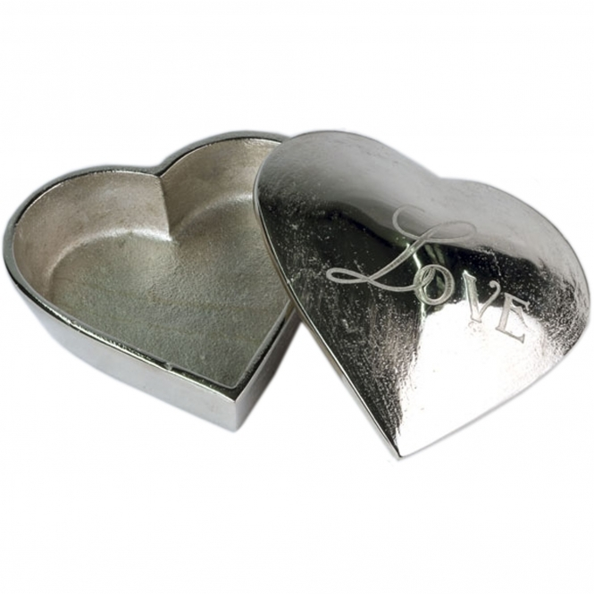 2 Love Heart Boxes (Nickel)