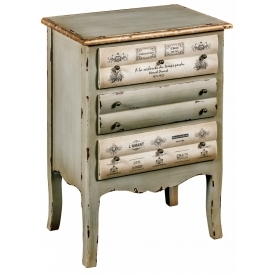 3 Drawer Shabby Chic Bedside Cabinet