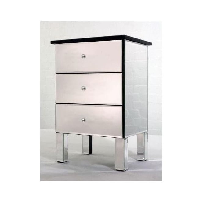 3 Drawer Venetian Mirrored Cabinet