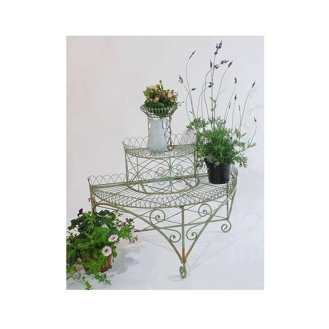 3 Tier Iron Plant Shelf