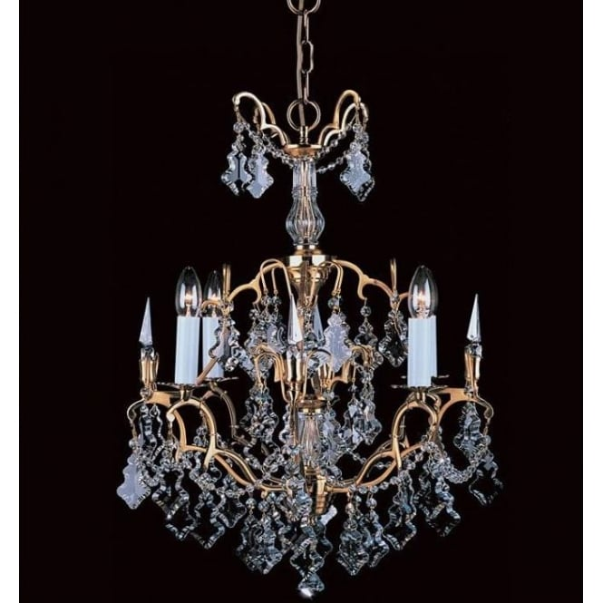 4 Light Montmartre Gold Antique French Style Chandelier