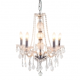 5 Branch Antique French Style Chandelier