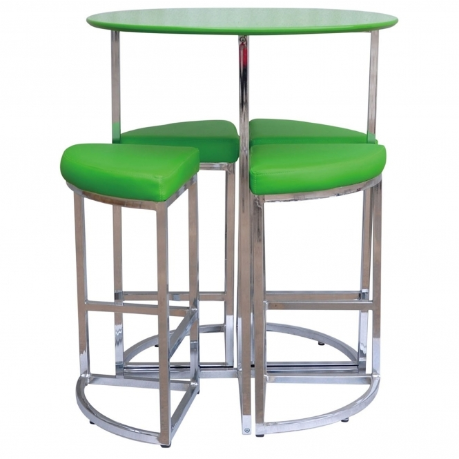 5Pc Table And Stool Set - Green