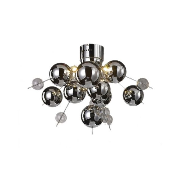 Chrome ball chandelier 6 lamp chrome ball chandelier mozeypictures Images