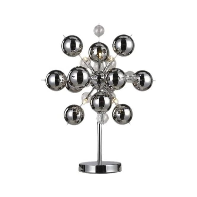6 light Chrome Ball Table Lamp