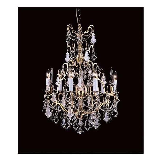 6 Light Montmartre Gold Antique French Style Chandelier