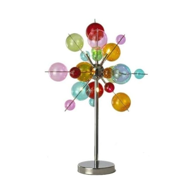 6 light Multicoloured Ball Table Lamp
