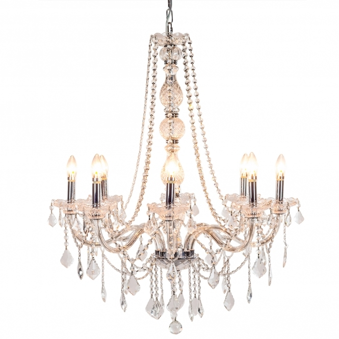 8 Branch Antique French Style Chandelier