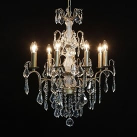 8 Branch Gold Antique French Style Chandelier