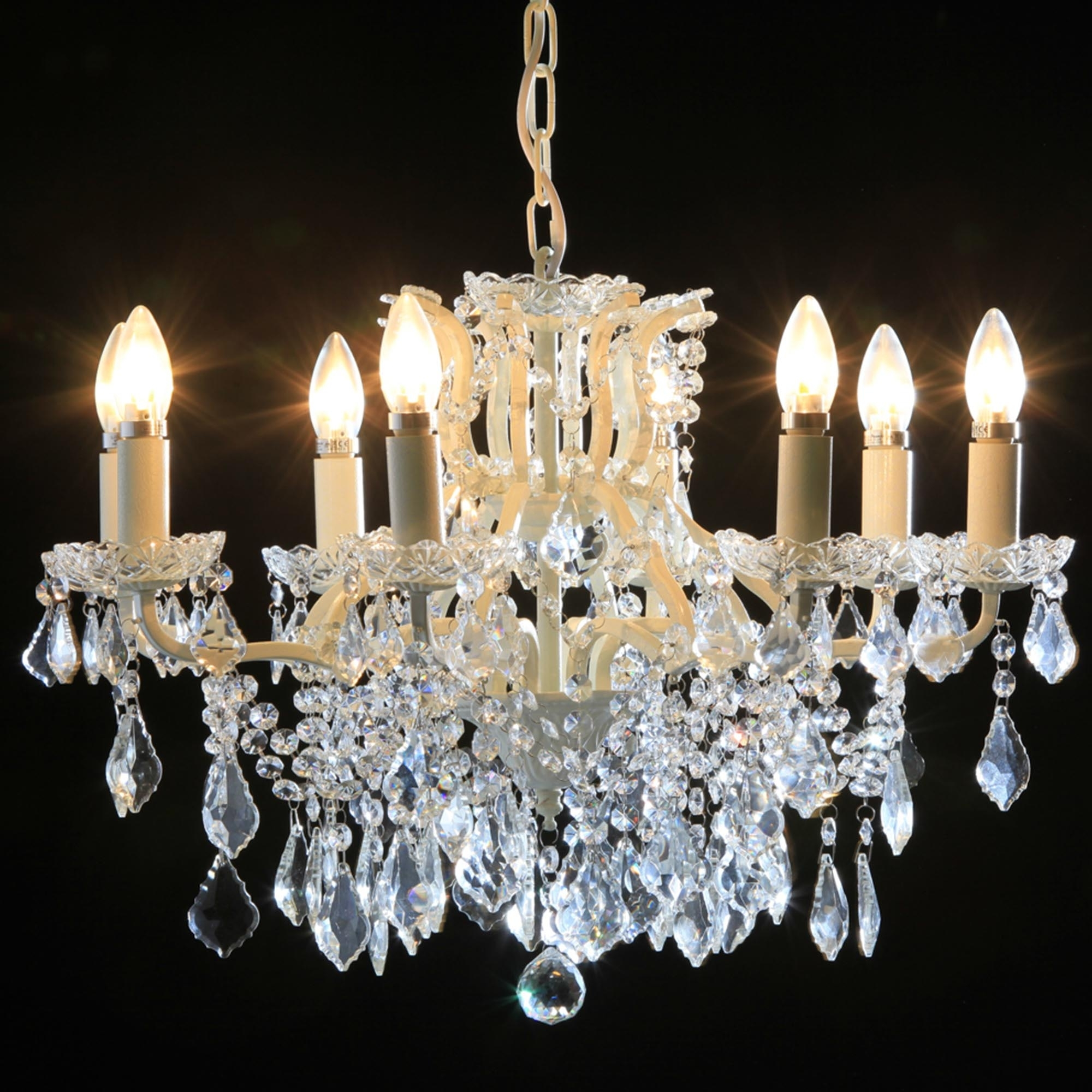 8 Branch White Le Antique French Style Chandelier