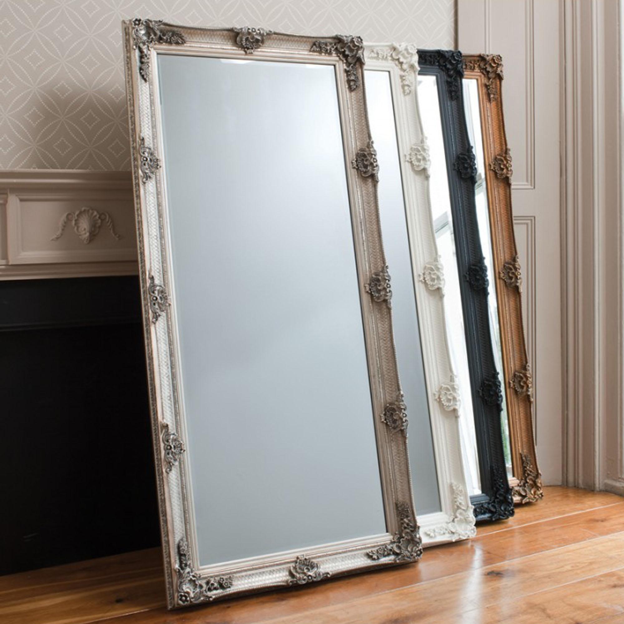 Abbey Gold Leaner Mirror Floorstanding Mirror