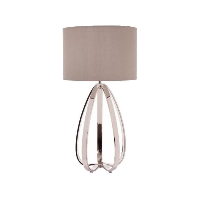 Abbot Nickel Table Lamp
