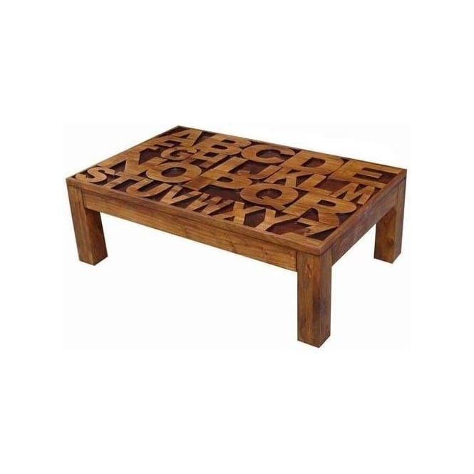 Acacia Lisbon Alphabet Coffee Table