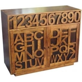 Acacia Lisbon Alphabet Side Board