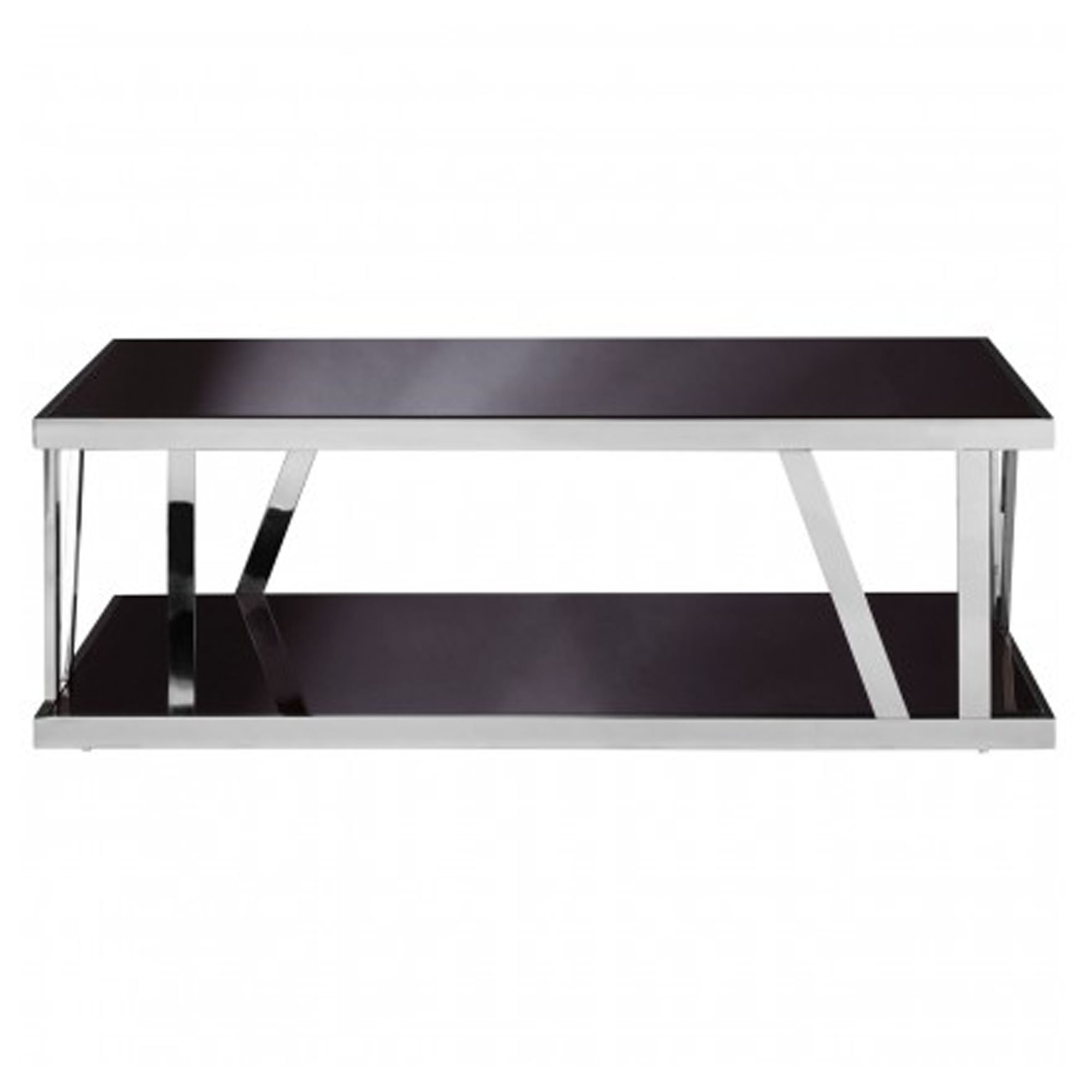 Ackley Black Glass Coffee Table Modern Furniture Coffee Tables