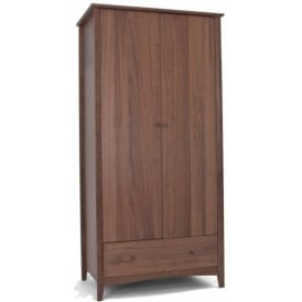 Alba Walnut Double Wardrobe