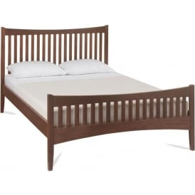 Alba Walnut High Footend Bed
