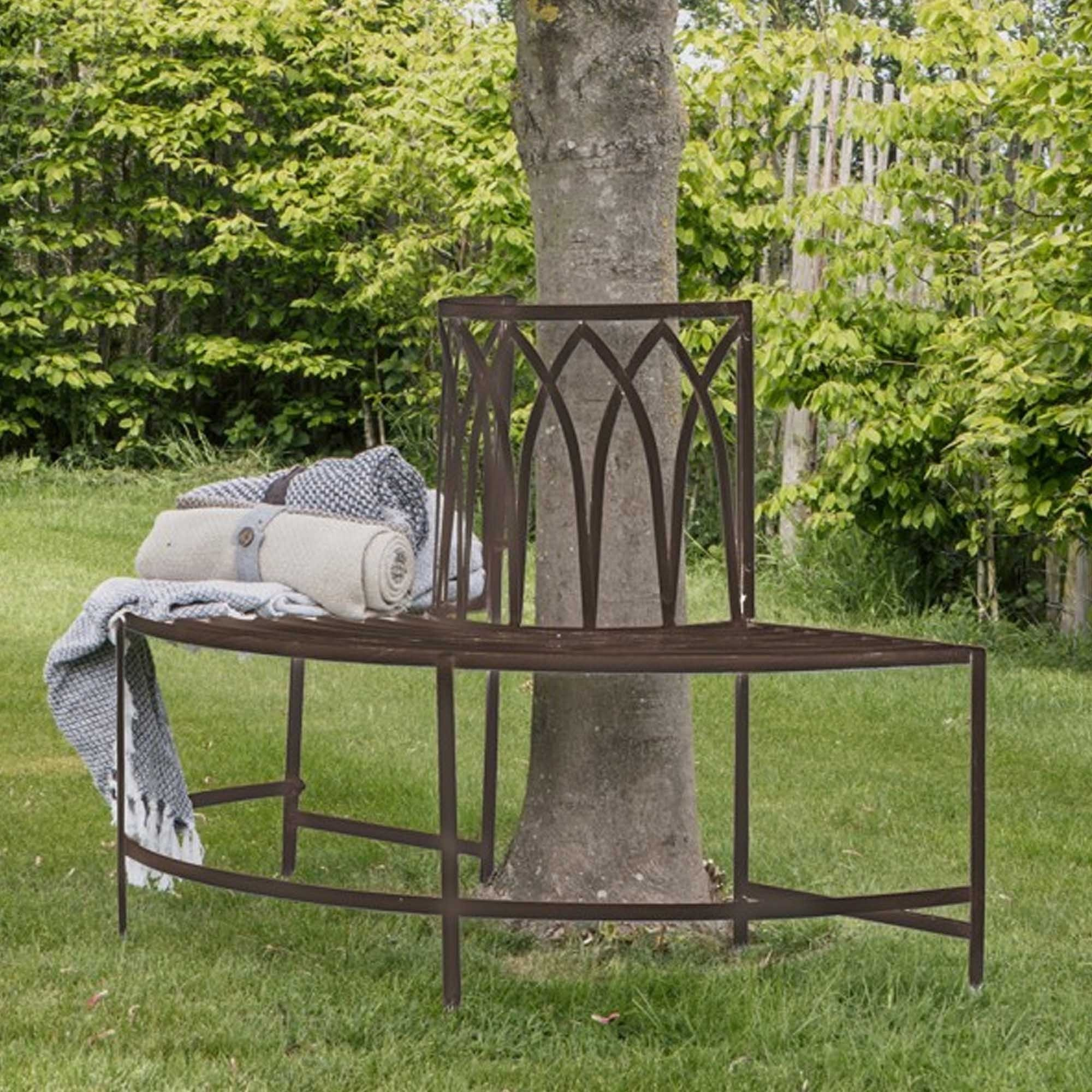 Picture of: Alberoni Outdoor Tree Bench Seat Ember Garden Bench Curved Bench