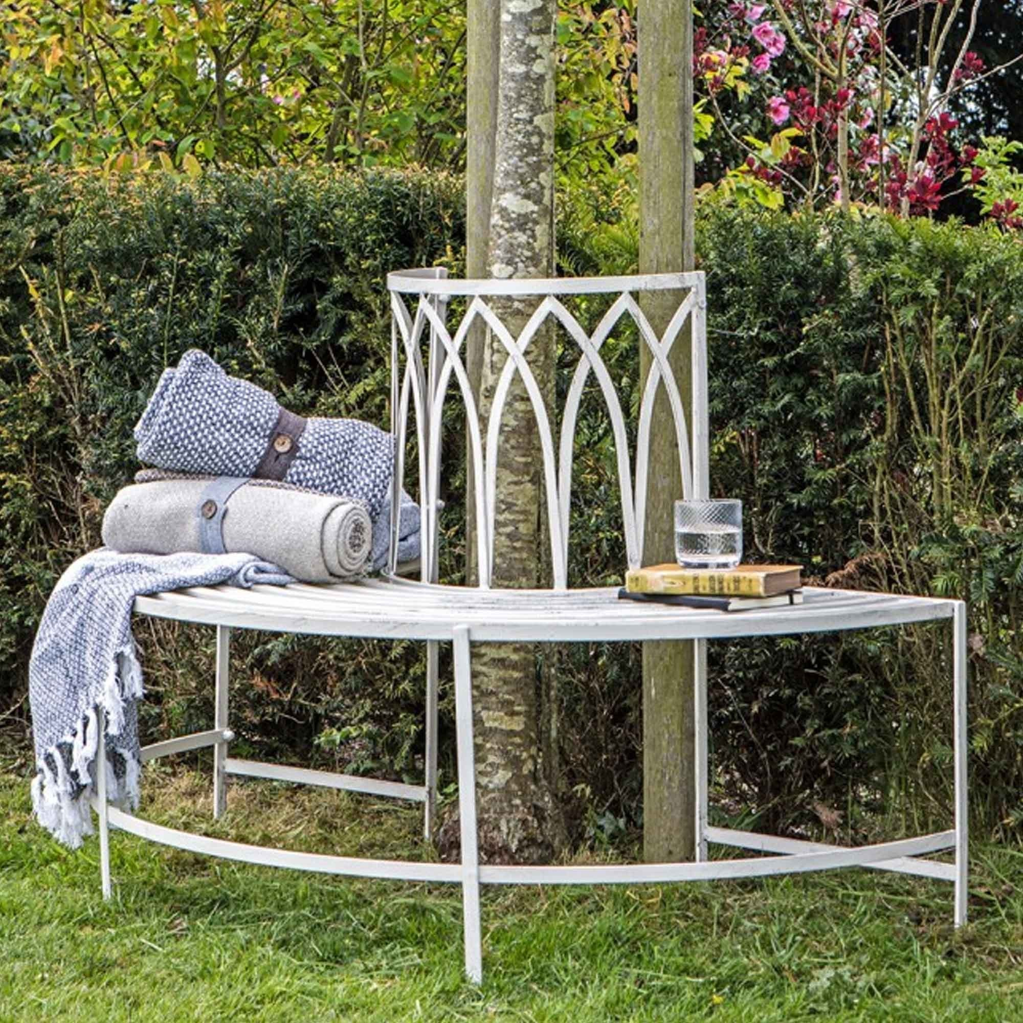 Picture of: Alberoni Outdoor Tree Bench Seat Gatehouse Garden Bench Curved Bench