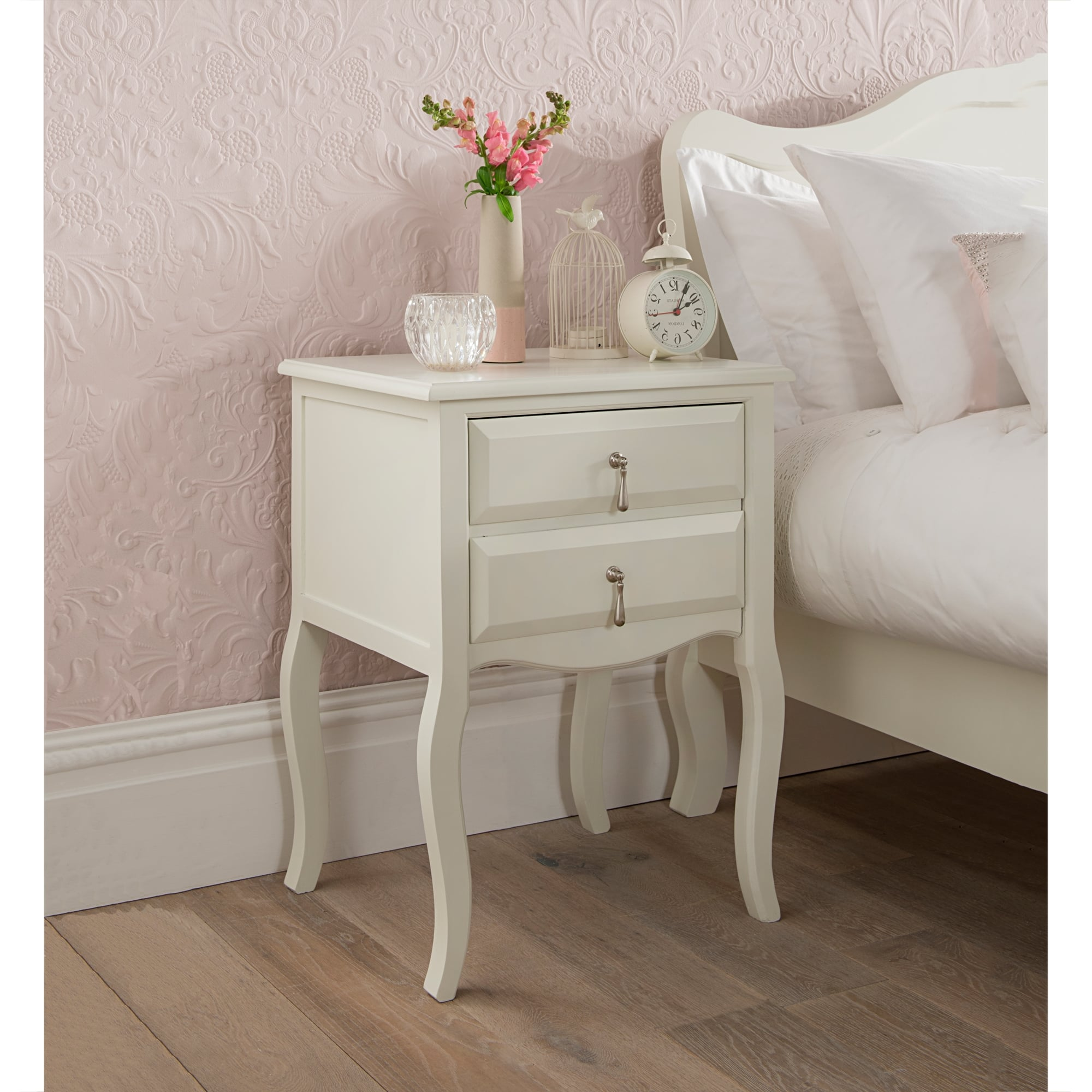 Antique French Style Bedside Table Bedroom Furniture