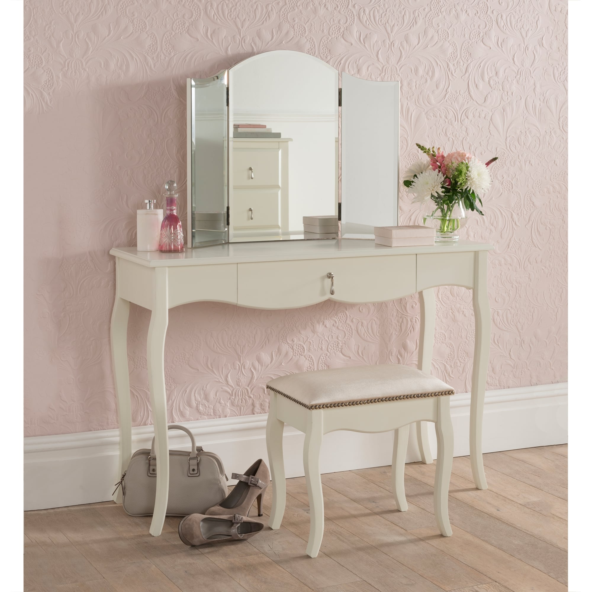 Antique French Style Dressing Table Set Bedroom