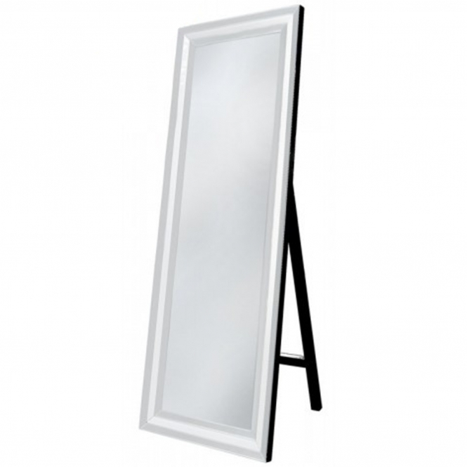 Alghero White Floor Standing Mirror
