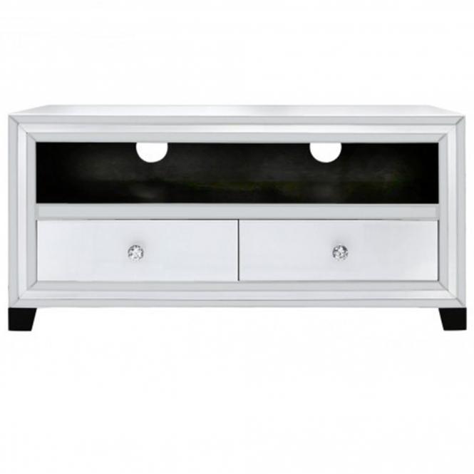 Alghero White Mirrored TV Cabinet