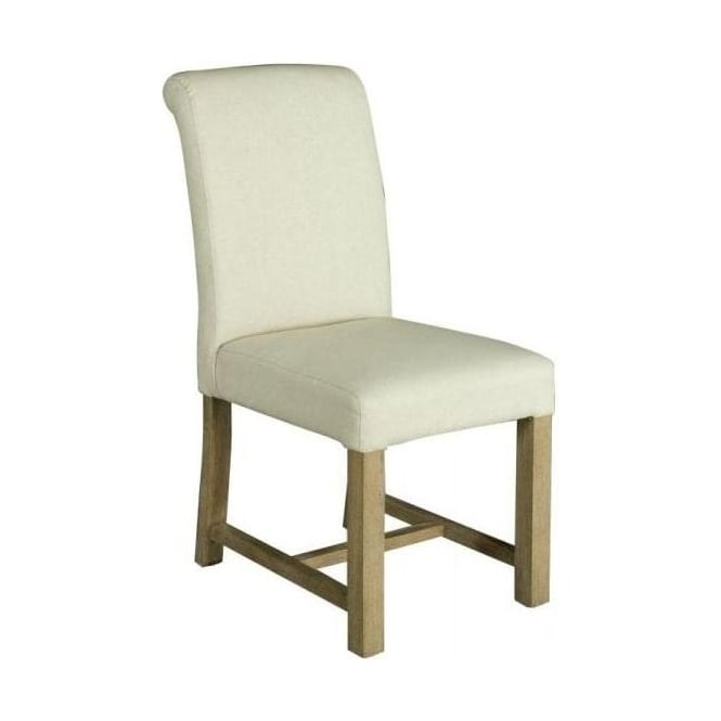 Alice White Fabric Dining Chair