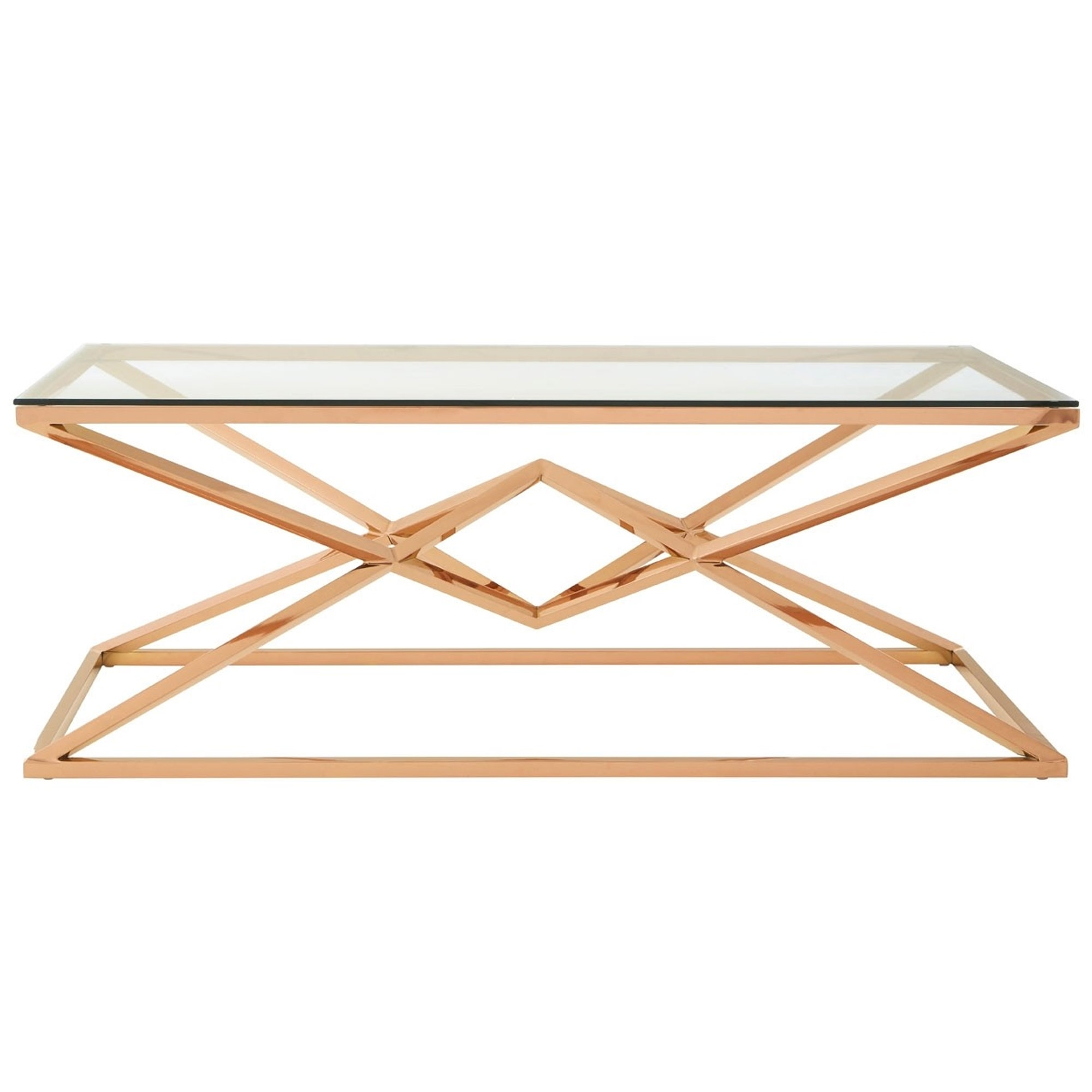 allure rose gold coffee table contemporary lounge furniture. Black Bedroom Furniture Sets. Home Design Ideas