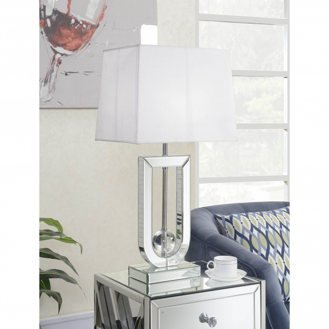 Altantis Mirrored Table Lamp