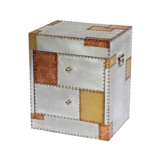 Aluminium and Copper Bedside Cabinet