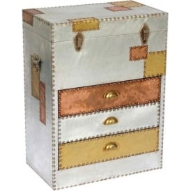 Aluminium and Copper Chest of Drawers